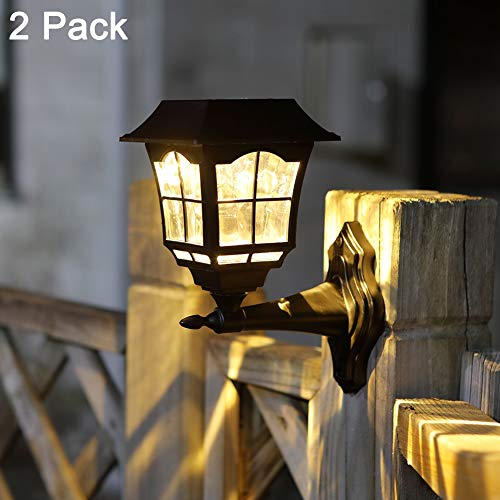 Maggift 15 Lumens Solar Wall Lantern Outdoor Christmas Solar...