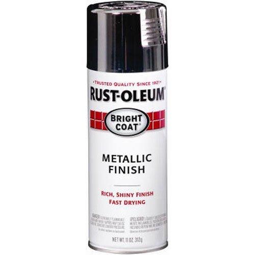 Rust-Oleum 7718830 7718-830 Stops Rust Bright Coat Spray Paint, 11 oz, Chrome