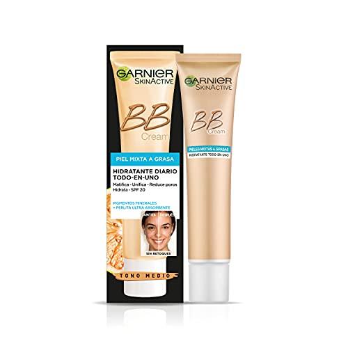 Garnier SkinActive, BB Cream Matificante Crema Correctora y Anti Imperfecciones, Pieles Mixtas a...