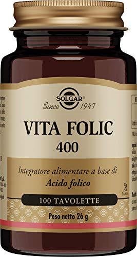 Solgar Folacín (Ácido Fólico) 400 µg, 100 Comprimidos