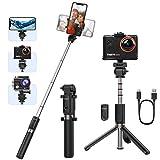 Yoozon Palo Selfie Deportivo Trípode,Selfie Stick extensible y Portátil de autofoto 3 en 1 con Control Remoto para Gopro,Cámara de acción y compatible con iPhone12/12pro/12mini,Samsung, Xiaomi, LG,etc