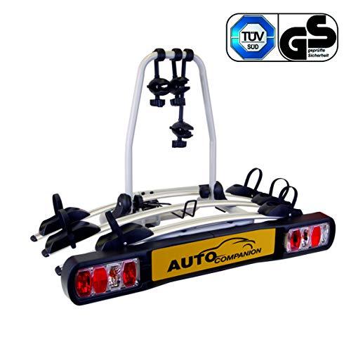 Auto Companion - Piattaforma portabici posteriore, per 3 biciclette, da fissare al giunto sferico di...