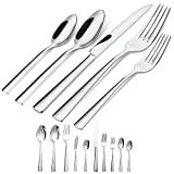 45-Piece Silverware Flatware Cutlery Set in Ergonomic Design Size and Weight, Durable Stainless Steel Tableware Service for 8, Dishwasher Safe