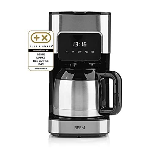 BEEM FRESH-AROMA-TOUCH Filterkaffeemaschine - Thermo | Edelstahl | 1 l Thermokanne | 24-Stunden-Timer | 800 W | Touch-Display | Für 4-8 Tassen