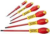 STANLEY 0-65-443 - Juego de 6 destornilladores aislados punta plana/pozidrivee