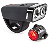 Mevel Cruiser Bike Light, USB Rechargeable Bike Lights Front and Back, LED Bicycle Light, Rear Bike Tail Light Included, Super-Bright Bike Headlight, Fits All Bikes, Easy Install & Quick Release