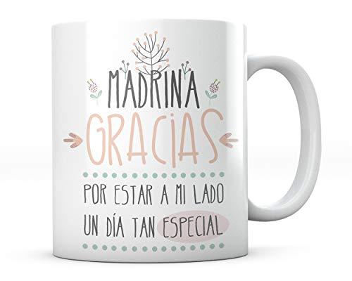 PANISCUS Taza para Regalar Madrina Gracias por Estar a mi Lado Regalo para Amigo Boda Matrimonio Celebración
