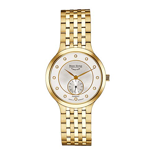 Bruno Söhnle Damen Analog Quarz Uhr mit Edelstahl beschichtet Armband 17-33136-242