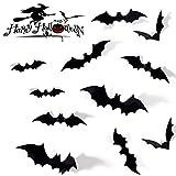 SUNEKING Halloween Party Supplies PVC 3D Decorative Scary Bats Wall Decal Wall Sticker, Halloween Eve Decor Home Window Decoration Set (1)