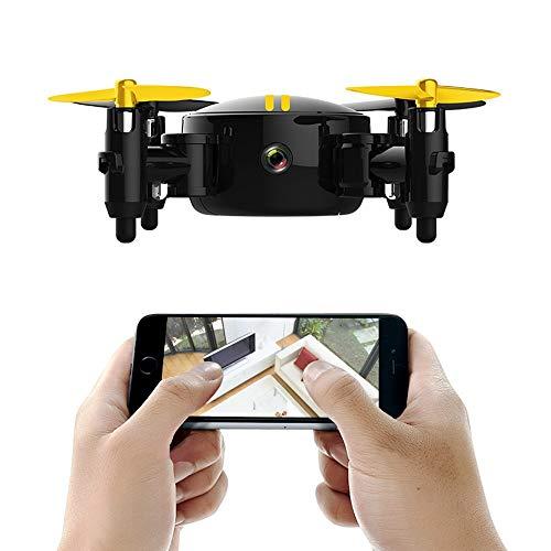 ILYO Mini drone aereo telecomandato con telecomando aereo HD piccolo aereo intercambiabile, giallo
