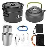 Odoland Multi-PCS Mini Kit de Casseroles Camping,...