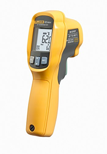 Fluke 62 Max Thermometer, Non Contact, -22 to +932 Degree F Range