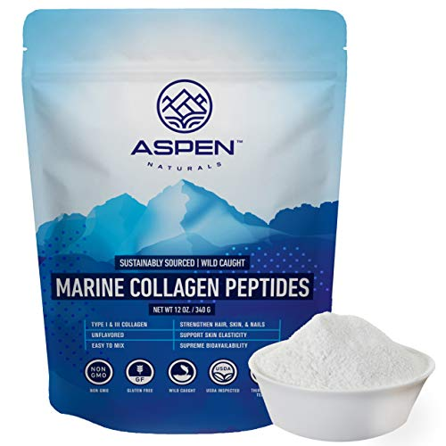 ASPEN NATURALS Marine Collagen Peptides - Protein Powder Supplement for Joint and Bone Health, 30 Day Supply - Natural Fuel for Daily Dietary Health