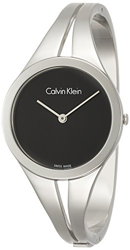 Calvin Klein Damen Analog Quarz Uhr mit Edelstahl Armband K7W2M111