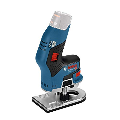 Bosch Professional Affleureuse Sans Fil GKF 12V-8 (12 V, Ø Pince de serrage : 6/8 mmn, Boîte carton, Sans batterie)