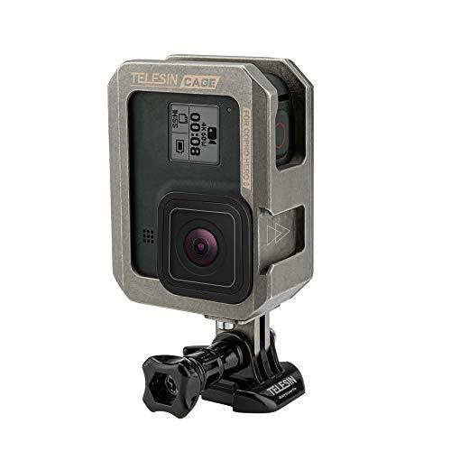TELEISN Custodia in Alluminio per GoPro HERO 8 black,Orizzontale e Verticale Custodia Protettiva Telaio con Fibbia a Sgancio Rapido e Vite per GoPro Hero 8