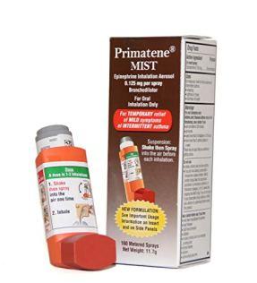 Primatene Mist Epinephrine Inhalation Aerosol 160 Metered Sprays-The Only FDA-Approved, Over-The-Counter Asthma Inhaler