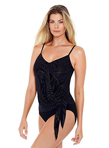 41VOvci1CRL Designer: Magicsuit Collection: Gold Leaf Name: Alex Metallic Underwire Bra Tankini Top