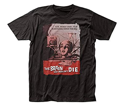 Brand New Item The Brain That Wouldn't Die Poster Adult Fitted Jersey T-Shirt Tee Officially Licensed Color: Black Material: 100% Cotton