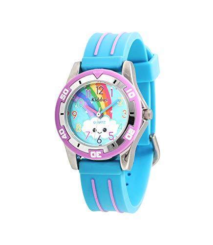 Orologio di alta qualit KIDDUS per bambini, ragazze. Da polso, analogico, con esercizi per imparare...