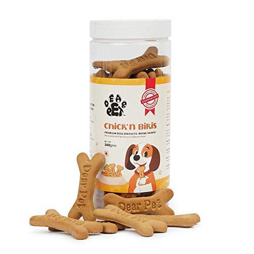 Dear Pet Chicken Premium Dog Biscuits, Fully Digestible Healthy Snack, Training Treat - Gluten Free...