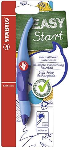 Ergonomischer Tintenroller für Rechtshänder - STABILO EASYoriginal in dunkel-/hellblau - Einzelstift - Schreibfarbe blau (löschbar) - inklusive Patrone