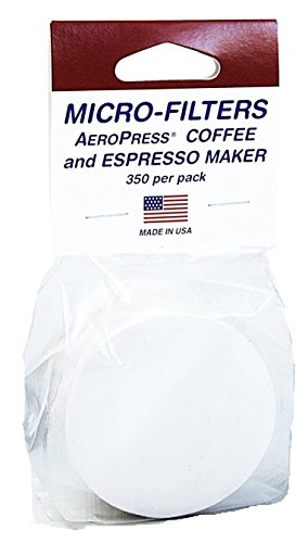 AeroPress Coffee and Espresso Maker with Tote Bag and 350 Additional Filters - Quickly Makes Delicious Coffee Without Bitterness - 1 to 3 Cups Per Press 3