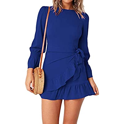 """Material:Polyester,Cotton--The stretchy knit material provides you with a Soft, lightweight and comfortable wear Size detail:S Bust 33"""",Length 33.4"""",,Waist 29.9"""",M Bust 34.6"""",Length 34.2"""",Waist 31.8"""",L Bust 36.2"""",Length 35"""",Waist 33.8"""".,XL Bust 37.8""""..."""