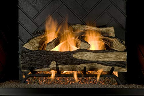 Sure Heat SH24DBRNL-60 Vented Gas Fireplace Logs, 24', Charred Hickory