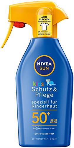 Nivea Sun Kids Protect & Care | Spray van SPF 50 | Beschermt de tere kinderhuid | Eenvoudig aan te brengen, plakt niet en trekt snel in | Huidvriendelijk en dermatologisch goedgekeurd | Inhoud: 300 ml