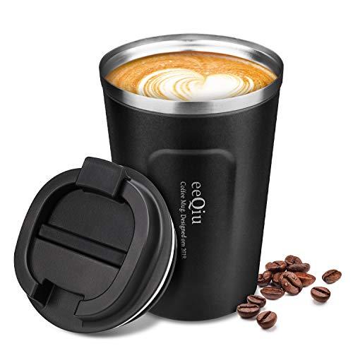 eeQiu Tasse à café 13oz 100% étanche - Tasse de Voyage en Acier...