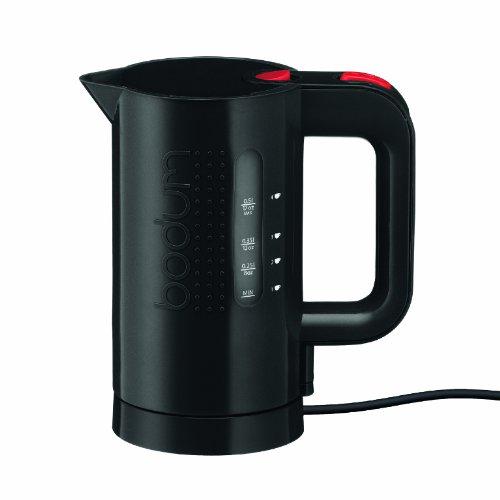 Bodum Bistro Elektrischer Wasserkocher (Automatisches Abschalten, 2200-Watt, 0,5 liters) schwarz