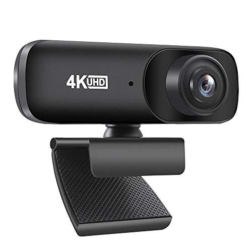 Diealles Shine Webcam 4K, Webcam Streaming con Microfono para Mac...
