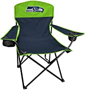 TOP FOLDING CHAIR FOR SEATTLE SEAHAWKS FANS looking to sit comfortably and in style at any tailgate, barbecue, or the beach! LARGE MAIN AND SECONDARY EMBROIDERED SEAHAWKS LOGOS stand out on both sides of every chair ULTIMATE FUNCTIONALITY, this chair...