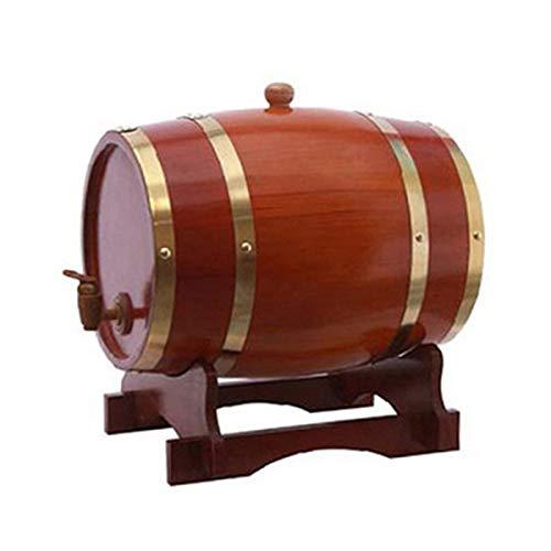 Pino orizzontale Oak Barrel, 1.5L della quercia di legno solido del barilotto di vino, Barile di...