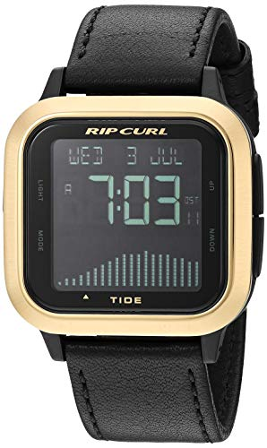 Rip Curl Men's Quartz Sport Watch with Silicone Strap, Black, 22 (Model: A1141GOL1SZ)