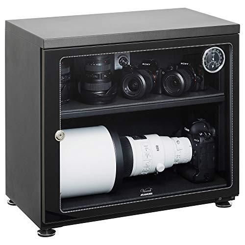 【Amazon限定ブランド】 HAKUBA 防湿庫 E-ドライボックス 大容量 85L カビ対策 自動除湿 静音 電子制御式 ...