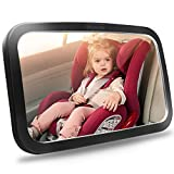 Shynerk Baby Car Mirror, Safety Car Seat Mirror for Rear Facing Infant with Wide Crystal Clear View,...