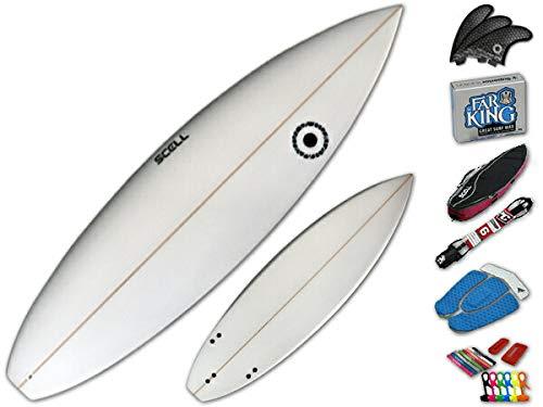 ショートボード6'3 クリアセット●サーフボード◆SCELL サーフィン 初心者7点SET ステップアップモデル