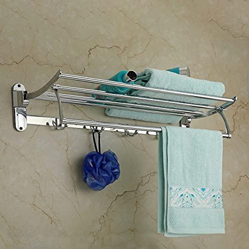 U-S-F BATH ACCESSORIES Premium Stainless Steel Folding Towel Rack for Bathroom/Towel Stand/Towel...