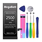 MegaBatt Battery for iPhone 6s only, 2500mAh Large Capacity 0 Cycle Replacement Battery, with Professional Replacement Tool Kit and Instructions-12-Month Warranty