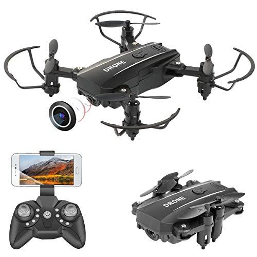 PROACC Mini Drone Pieghevole con Telecamera, WiFi Telecomando Quadricottero FPV a 2,4 GHz con...