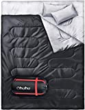 Ohuhu Double Sac de Couchage Sac de Couchage 2 Places 220*150cm 2980g Duvet...