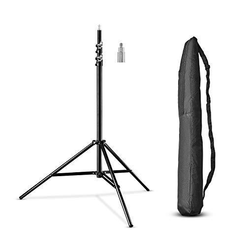 Walimex pro WT-806 Soporte de luz (con amortiguación de muelle, aluminio, máximo 256 cm,...