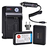 BP1310 DOT-01 Battery Charger Set Compatible with Samsung ED-BP1310 BP-1310 and Samsung NX5, NX10, NX11, NX20, NX100 Digital Cameras(2-Pack, 1800mAh, 7.4V)