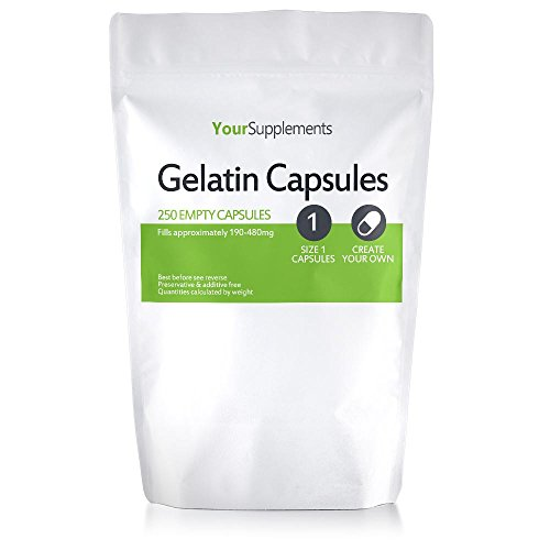 Your Supplements - Capsule in Gelatina, Vuote, Tagila'1', 250 Pezzi
