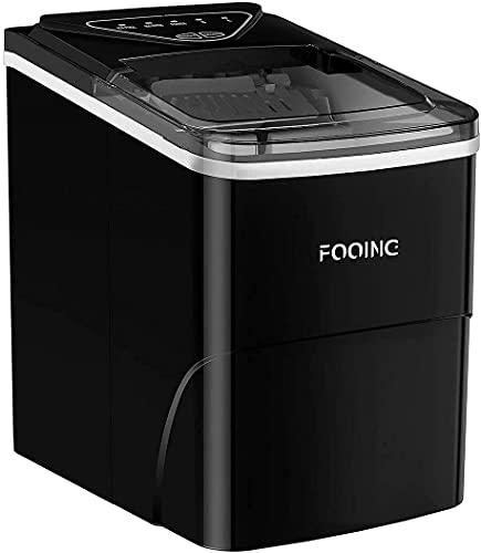 FOOING Ice Cube Maker Ice Machine Maker piano di lavoro pronto in 6 minuti 2 L macchina per ghiaccio con paletta per ghiaccio e cestello Display LED Ice Maker per casa bar, cucina ufficio