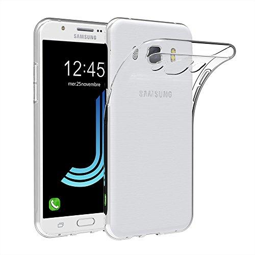 AICEK Cover Compatible Samsung Galaxy J5 2016 J510, Galaxy J5 2016 Silicone Caso Molle di TPU Cristallo Trasparente Sottile Anti Scivolo Case Posteriore della Copertura per Galaxy J5 2016 5.2 Pollici
