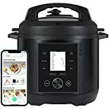 CHEF iQ Smart Cooker World's Easiest to Use PressureCooker, Seamlessly Connects w/App for Foolproof Guided Recipes, Full-Color LCD Screen, Built-in Scale, Times & Temps and Auto Steam Release, 6 Qt