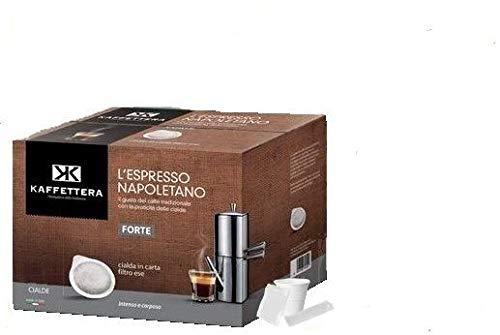 Kit Kaffettera 50 cialde Compatibili Nespresso - Lavazza Point - Lavazza A Modo Mio   Completo di Accessori (50)
